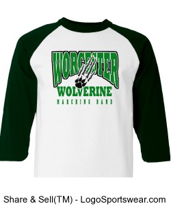 WCS Unisex Marching Band Raglan T-Shirt Design Zoom
