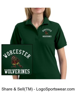WCS Ladies Silk Touch Polo Shirt - Forrest Grn Design Zoom
