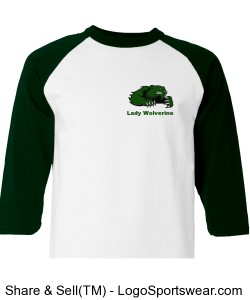 Lady Wolverine Raglan Basketball T-Shirt Design Zoom